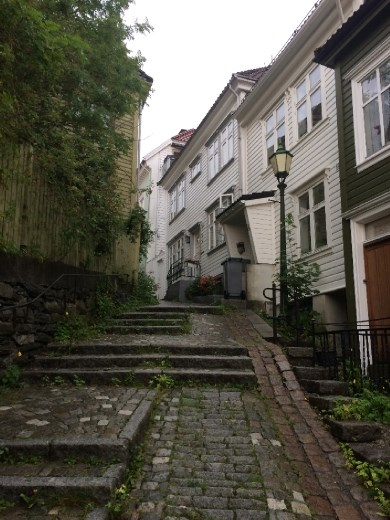 Bergen's beautiful old town streets.