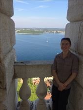 At the top of the bell tower with the see below. : by shire_girl, Views[20]