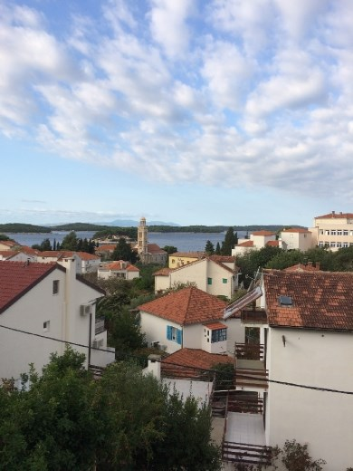 View of Hvar from my little porch.