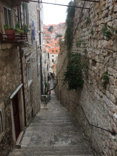 Wandering the streets of Dubrovnik.