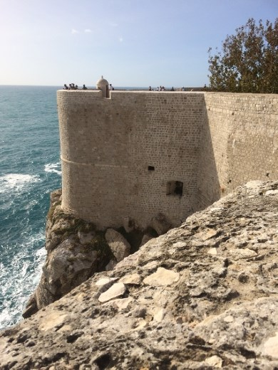 Looking back on our tracks along the City Wall in Dubrovnik.