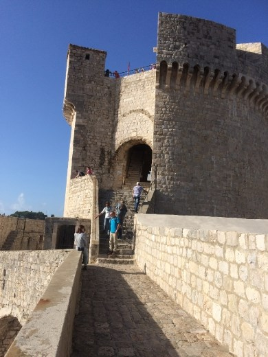 A tower on the wall (and quite a few more steep steps!).