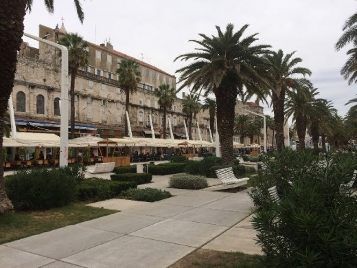 The promenade in Split.