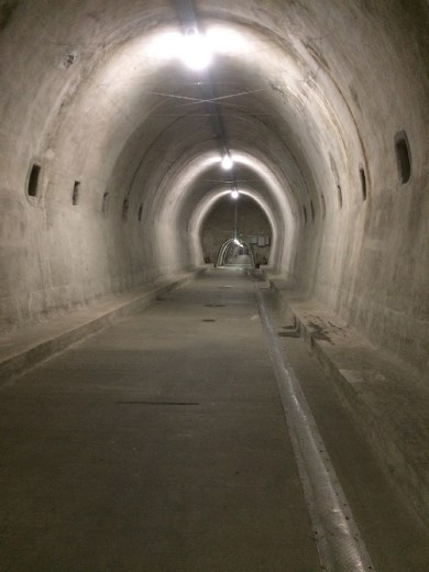The tunnels of Zagreb, apparently built as air raid shelters in WW ll. For me a welcome relief from the rain on my walk across town.