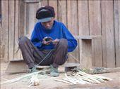 Old man crafting in minority village Muang Noi: by shockalotti, Views[311]