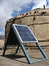 One yurt even had a solar panel to power a single lightbulb inside. Land degradation is a huge issue out here - MSDSP is working on getting some renewable energy projects going to help mitigate: by shrummer16, Views[177]