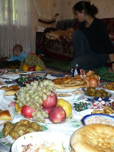 A sight for sore eyes - and hungry tummies! - the family's spread for Eid