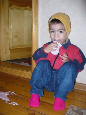 Don't cry over spilled... yoghurt?!