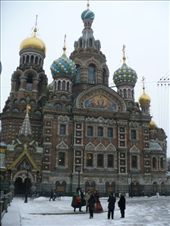 Our first main sight in gorgeous St. Petersburg after an overnight train from Moscow... the Church of the Saviour on Spilled Blood/Church of the Resurrection. This beauty (which I thought looked more intimidating and, thus, Russian than St. Basil's) was built from 1883-1907 on the spot where Alexander II was blown up by the People's Will terrorist group: by shrummer16, Views[329]