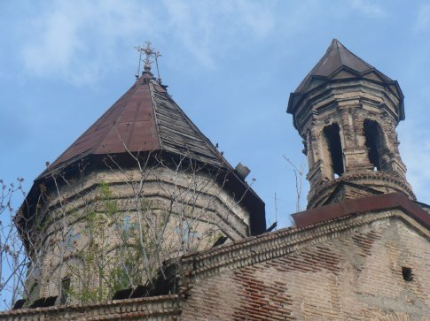 One of the many beautiful old churches dotting the winding streets of Old Tbilisi