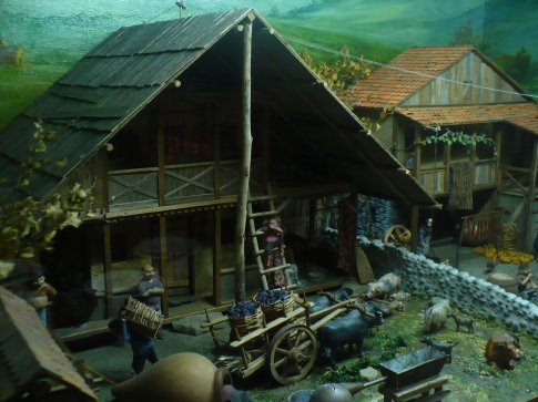 A diorama (oh, how I love dioramas!) of village life in the province of Kakheti