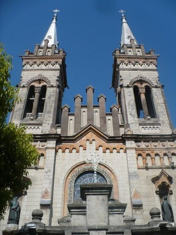In the sunny port city of Batumi, the gothic-style Virgin Nativity Cathedral