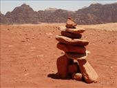 A trail marker, the Bedouin version of the Inuit Inukshuk: by shrummer16, Views[426]