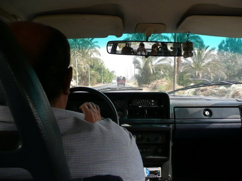 Setting off on a day trip to the pyramids around Cairo