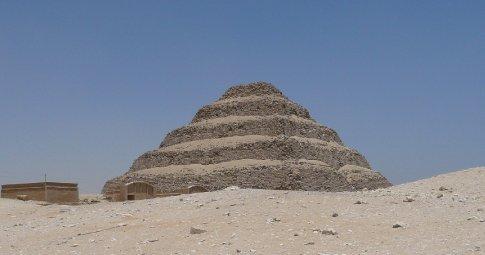 King Djozer's pyramid at Saqqara (Dad pronounced it
