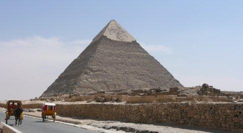 There she is... the main pyramid at Giza!!