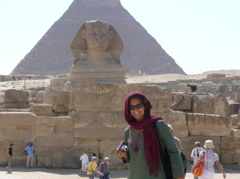 I was pretty stoked to finally see the Sphinx and pyramids with my own eyes!