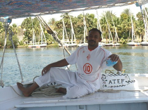 Our captain was Nubian, an ethnic group in southern Egypt that migrated from Sudan about 2000 years ago