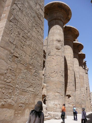 Almost every king wanted to build something inside Karnak to honour Amon, the King of Gods; the current temple complex took over 2000 years to build and parts are still unfinished