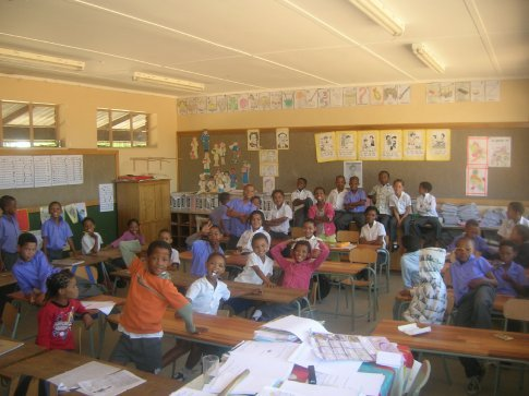 The grade 3 class at the primary school