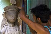 Sculptors and artists craft clay images of the Goddess Durga months ahead : by shyamaldatta, Views[38]