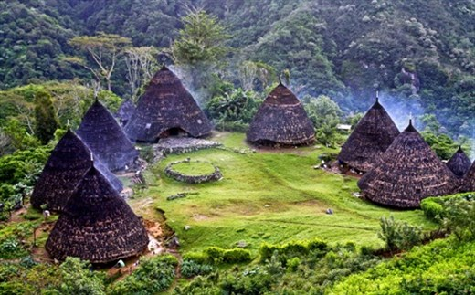 Formation of Mbaru, traditional house of Manggarai tribe