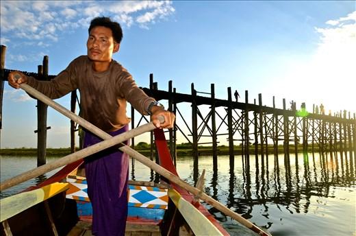 Longyi tradition is still common for burmese man