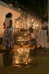 Meanwhile, other pilgrims are lighting terracotta oil lamps to reaffirm their devotion: by sifaan, Views[228]