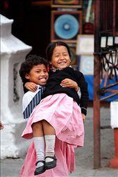 Nepaliese kids playing outside a school in Khatmandu: by silencio, Views[200]