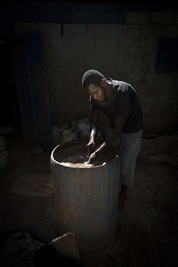 Programs like this pottery school are set up to help teach job skills.