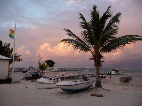 Sunset on Caye Caulker