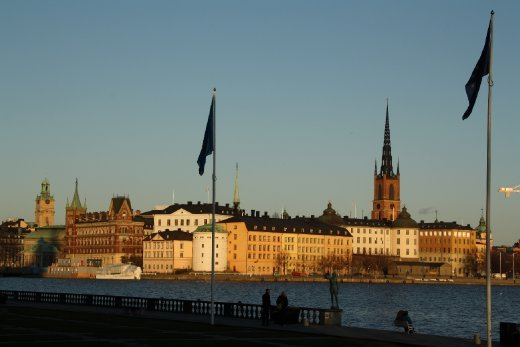 Gamla stan at sunset
