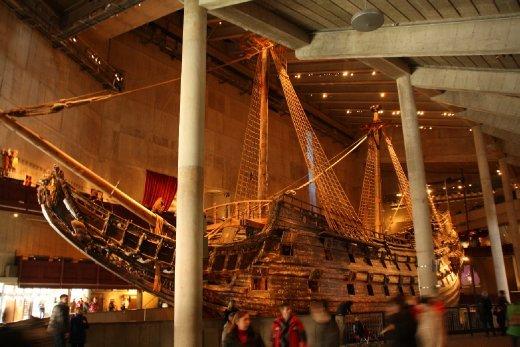 The restored warship Vasa