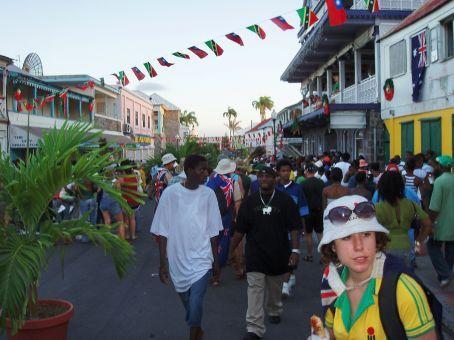 Basseterre main st, St Kitts