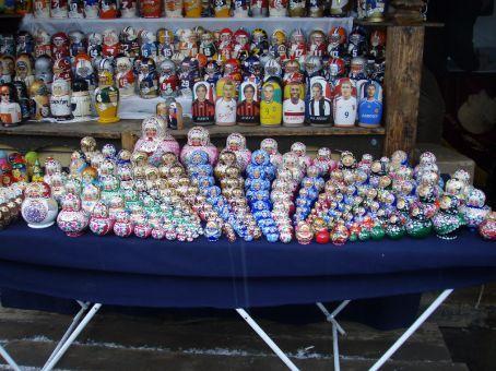 Matryoshka dolls at the market