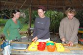 Anna teaching Lisa and Chris what food to give the animals at at´La Senda Verde´ animal sanctuary : by simonefrancis, Views[431]