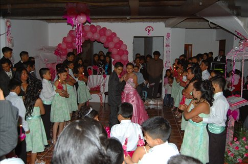 The party for the 15 year old girls birthday in Ecuador!