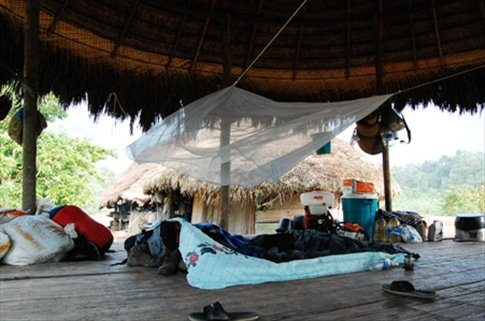 my room- Juyuintza tribal village- Ecuadorian Amazon