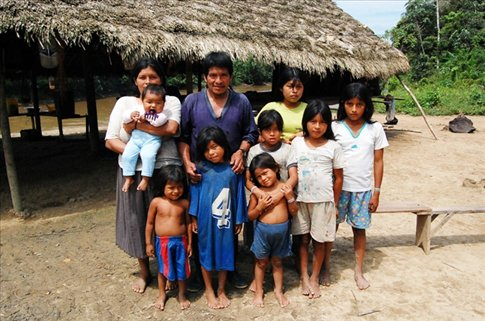 The president (Hernan's) family at Juyuintza tribe- Ecuadorian Amazon