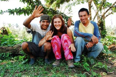 Javier, me and Marco at Juyuintza tribe- Ecuadorian Amazon