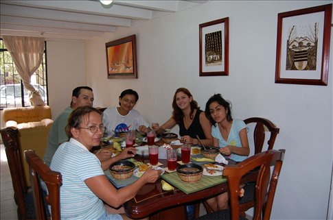 A typical Colombian lunch with Tania and her family