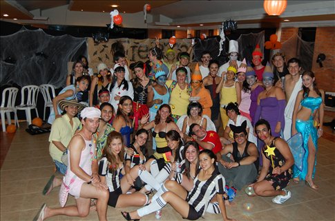 Halloween party in Cali, Colombia