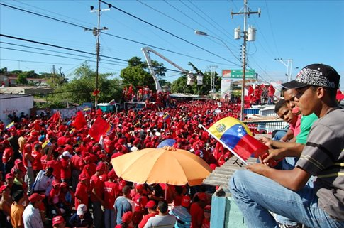 Chavez speaks in Cumana