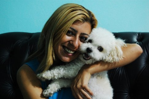 Neila and her dog in Tefe, Brazil