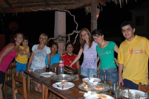 Francisco and his family and I in Tefe, Brazil