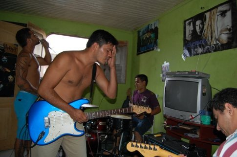 Mau Mau´s band in Tefe, Brazil