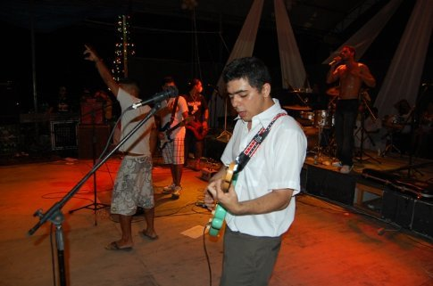 Mau Mau´s band on NY´s eve in Tefe, Brazil