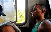 A portrait of my silent seatmate during 3-hour bus ride across the island of Vanua Levu from Labasa to Savusavu. The buses are ancient and break down often; frequent riders develop a deep-seated frustration with the bumpy 85 kilometer road that crosses the mountains that jut from the middle of the island. 