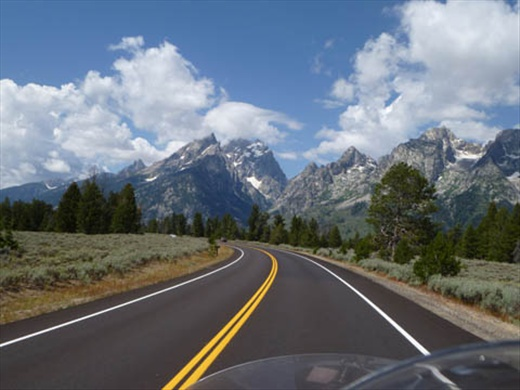 Views from the Gold Wing ~ Jackson Wyoming