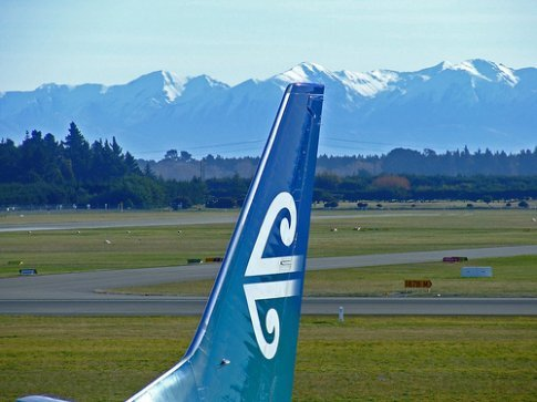 Air NZ with view of mountains in Christchurch (thanks to zagispirit on flickr)